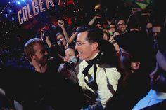 Stephen Colbert walks through the crowd at StePhest Colbchella '012.