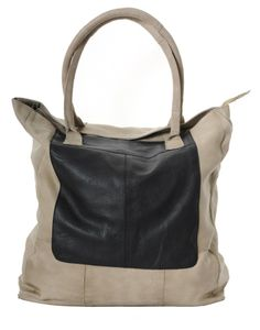 aa6f23933397 Pieces Gine Leather Shopper Bag in Cream