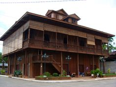 Adasa Heritage House, Zamboanga del Norte, Philippines, Filipino Architecture, Philippine Architecture, Wooden Houses, Old Houses, Exterior Design, Interior And Exterior, Spanish Colonial Homes, Philippine Houses, Asian House