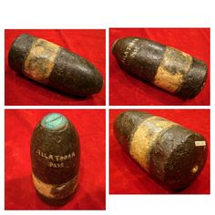 Dug U.S. 3″ Type I Hotchkiss Percussion Shell.  A very nice shell in dropped condition with full lead band Sabot and Hotchkiss Percussion Fuse intact. Dug on Allatoona Pass, Battlefield. Atlanta Campaign.