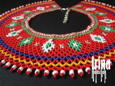 Ukrainian seed bead necklace kryza Lemko krywulka Traditional | Etsy Seed Bead Necklace, Multi Strand Necklace, Boho Necklace, Beaded Earrings, Seed Beads, Beaded Jewelry, Antique Jewelry, Beaded Collar, Minimalist Earrings