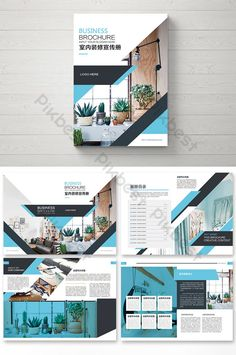simple green fashion home interior decoration pictures Graphic Design Brochure, Corporate Brochure Design, Brochure Layout, Graphic Design Tips, Web Design, Template Brochure, Magazine Layout Design, Book Design Layout, Modele Word