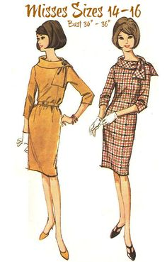60s VINTAGE MISSES' DRESS Sewing Pattern    by KeepsakesStudio, $9.99