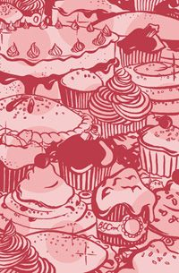 Cakes! Illustration by Beverley Gene Coraldean