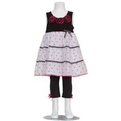 Bonnie Jean Toddler Girls 4T Black Pink Dot Flower 2pc OutfitFrom #Bonnie Jean List Price: $40.00Price: $35.99 Availability: Usually ships in 1-2 business daysShips From #and sold by SophiasStyle