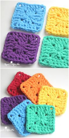 We have gathered a big list of crochet Projects  that will really inspire you to make #crochet #Squares patterns with crocheting hooks.Bright & Bulky Square
