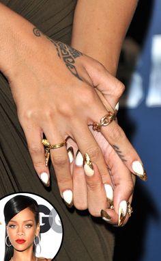 Rihanna rocks the metallic trend!