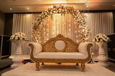 8 Eco-Friendly Stage Decoration Ideas That Will Help You Save The World With You. 8 Eco-Friendly Stage Decoration Ideas That Will Help You Save The World With Your Nuptials. Wedding Stage Decorations, Engagement Stage Decoration, Reception Stage Decor, Wedding Stage Backdrop, Desi Wedding Decor, Wedding Stage Design, Reception Backdrop, Backdrop Decorations, Wedding Mandap