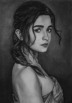Buy Custom Charcoal Pencil Sketch By Lokesh Pencil Sketches Landscape, Beautiful Pencil Sketches, Pencil Sketches Easy, Girl Drawing Sketches, Art Drawings Beautiful, Pencil Art Drawings, Photo To Pencil Sketch, Pencil Sketch Portrait, Color Pencil Sketch