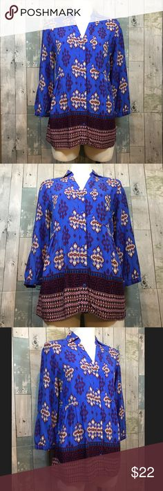 Maeve Woodland Walk Buttondown Excellent condition! Top is 27 inches in length. Chest measures 36 inches. 100% rayon. Smoke free and pet free home. Anthropologie Tops Button Down Shirts