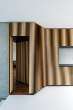 floor color to match the wall behind board paneling+raise floor 4 Home Room Design, Living Room Designs, Living Spaces, House Design, Raised Panel Walls, Gray Interior, Interior Design, Timber Cladding, Secret Rooms