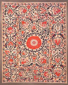 Shahrisyabz suzani, Uzbekistan, 19th century.