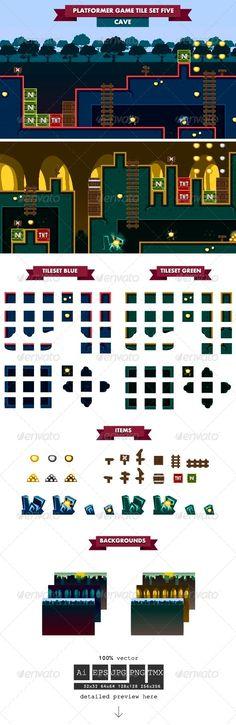 Platformer+Game+Tile+Set+Five