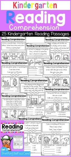 Inside you will find 25 reading passages perfect for beginning readers in kindergarten and first grade. First grade reading. Reading Comprehension Passages, Reading Fluency, Reading Strategies, Reading Activities, Guided Reading, Teaching Reading, Close Reading, Reading Skills, Reading Help