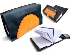 Intro VIDEO DIY Hand Stitch Leather Writing BOOK & BAG made by Tutorial Girl PS the pattern is made for midori travelers insert book size Book Clutch, Diy Clutch, Leather Notebook, Leather Journal, Diy Wallet, Wallet Tutorial, Diy Tutorial, Clutch Pattern, Sewing Leather