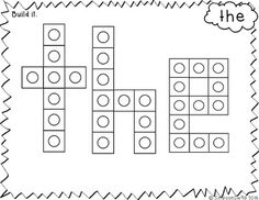 Free Snap Cube Mats Kindergarten Centers, Kindergarten Learning, Preschool Printables, Kindergarten Literacy, Learning Centers, Literacy Centers, Sight Word Spelling, Teaching Sight Words, Sight Word Games