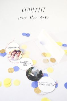 DIY Confetti Save-the-Date // http://ruffledblog.com/diy-confetti-save-the-date
