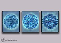 A personal favorite from my Etsy shop https://www.etsy.com/listing/508925051/mini-mandala-prints-mandala-wall-art-set