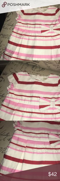 Kate spade skirt the rules stripe dress White dress with red & pink stripes and bow. Gold accent zipper in back. Has white rompers. New without tags. kate spade Dresses Formal