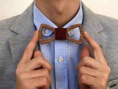 Groomsmen gift / St Valentine's gift / Men gift / Woodwork / Unique bowtie / Mens accessory / Gift / Wedding bowtie / Wooden bowtie / Bowtie (20.00 USD) by UNOWoodStore