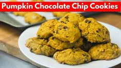 Learn how to make soft cookies with FALL spices, pumpkin & chocolate.