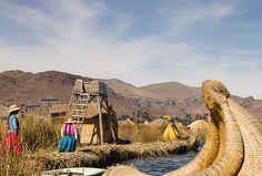 Ilhas de Uros, no Lago Titicaca