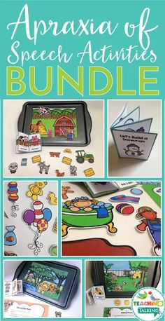 Apraxia Activities Value Bundle - Use this 250 page bundle with your preschool, Kindergarten, or grade students. It's great for special education OR speech therapy teachers. This is a great way to practice multiple repetitions of targets with chi Toddler Speech Activities, Special Education Activities, Autism Activities, Speech Therapy Activities, Preschool Articulation Activities, Sorting Activities, Language Activities, Teacher Resources, Autism Preschool