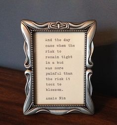 Anais Nin  Quote Typed on Typewriter & Framed by farmnflea on Etsy, $19.00