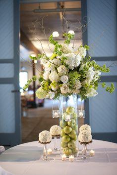 Love fruit & flower centerpieces
