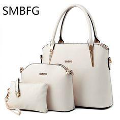Women Leather Handbags 3 set of the composite bag Female Sweet Lady Fashion Handbag  Messenger Shoulder Messenger Crossbody drop e04e9e5f3fd13