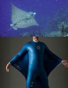 "Designer Guillaume Binard in cooperation with ""Aqua Lung"" created Oceanwings  #Biomimesis #Biomimetica #Biomimicry"