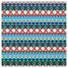 Modern Aztec Fabric | Zazzle