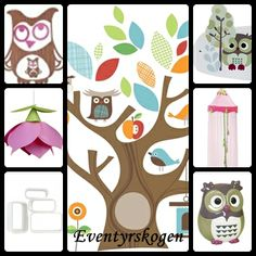 Forest theme for kids room, with fresh and calm colors.