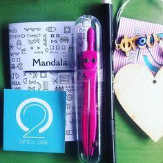 Sunday Mandala lessons with @c2_magazine #bloggers #mandalas #instamoment