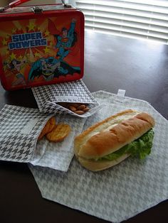 Reusable snack bags and sandwich wrap/place-mat Tutorial