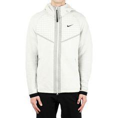 Men's Nike Tech Pack Full-Zip Knit Hoodie Small. BV4617-072. Full Zip Hoodie, Fleece Hoodie, Sneaker Outlet, Tech Pack, Nike Tech, White Hoodie, Black Nikes, Hooded Jacket, Hoodies