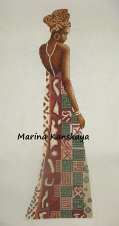 ru / Africa c) African Life, African Women, Ribbon Embroidery, Cross Stitch Embroidery, Cross Stitch Charts, Cross Stitch Patterns, African Paintings, Art Africain, Cross Stitch Pictures