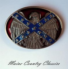 Vintage 1992 CSA Confederate Eagle Belt Buckle Southern Rebel Dixie Flag Arroyo | eBay