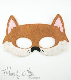 Dingo Mask Embroidery Design, dingo mask, machine embroidery, ITH mask, in the…