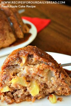 Ready for Fall with this FRESH APPLE CAKE. It is very moist and full of apple and fall flavors.  http://recipesforourdailybread.com/2013/09/18/fresh-apple-cake-recipe/ #apples #apple cake #fall baking #fall recipes #autumn recipes #desserts #fall desserts