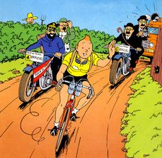 "In his own special way, Tintin is a sportsman. Although he is never directly shown playing sports in ""The Adventures of Tintin"" (except in one frame in ""Tintin and the Picaros"", where he . Comic Kunst, Comic Art, Comic Books, Cartoon Cartoon, Nu Project, Comics Und Cartoons, Herge Tintin, Caricatures, Comics"