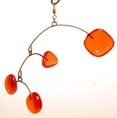Orange Glass Dancers by LeahPellegrini on Etsy, $30.00