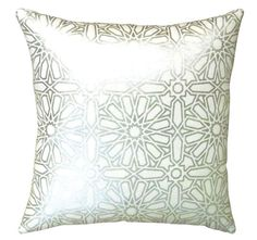 Kasbah 45x45cm Filled Cushion White and Silver | Manchester Warehouse