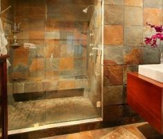 Enclosed steam shower... A must have in my next home!