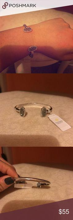 🌸 Authentic Kendra Scott Elton Bracelet 🌸 BNTW Elton bracelet. No dust bag or box. Adjustable cuff. Silver color. Kendra Scott Jewelry Bracelets