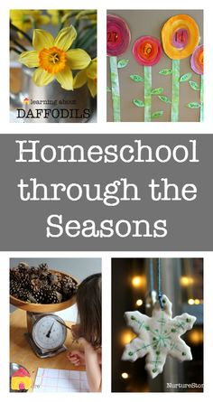 Seasonal homeschool resources - homeschool the seasons, a complete resource of math, literacy, science, art and sensory play for the year