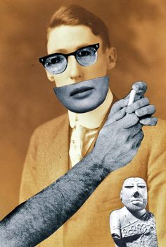 Hannah Hoch It is a photomontage of a man with different parts of the body that are not his. I like it a lot because again there must be some hidden meaning behind it because it looks quite mysterious.  It is clearly handmade. Also I really like the colors that are used it this collage.