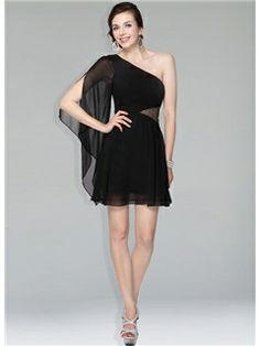New Fashion One Shoulder Sequins Short/Mini Little Party Dress
