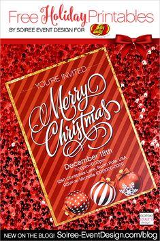 Merry Christmas Jelly Bean Bar + FREE Printables! #JellyBelly