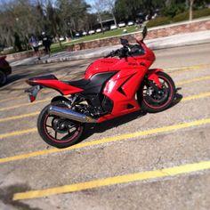 Red and Black Kawasaki Ninja